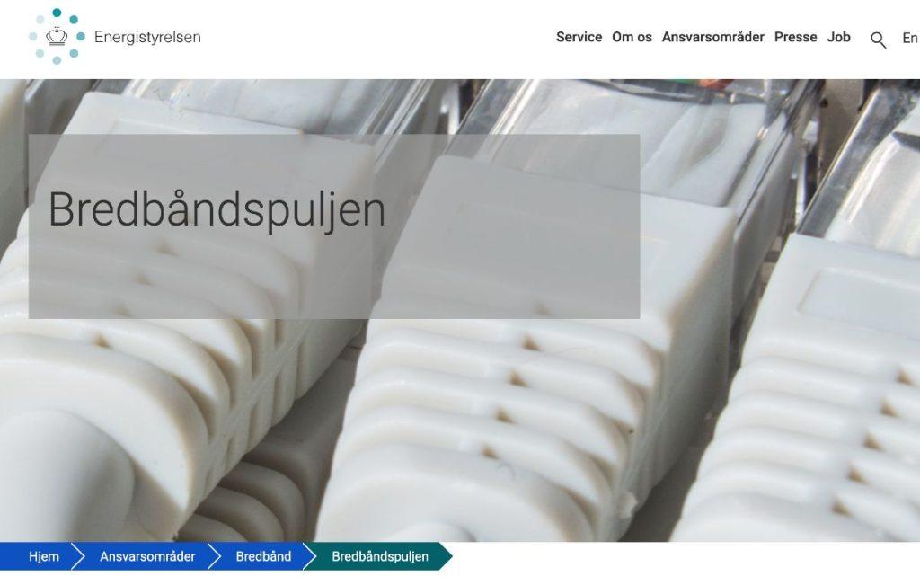 Bredbåndspuljen hjemmeside