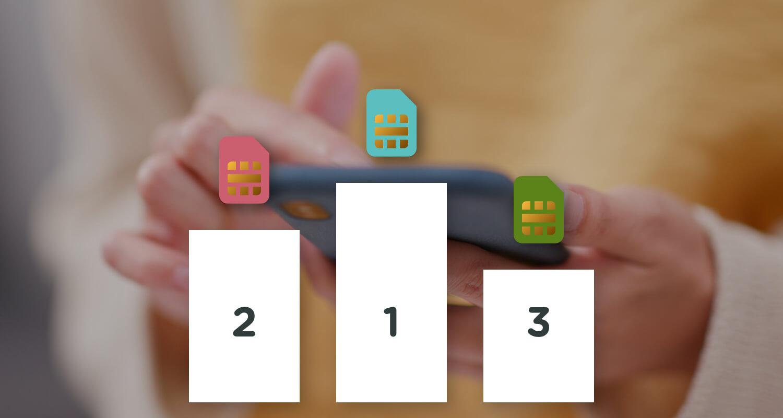 Rangliste med SIM-kort i forskellige farver