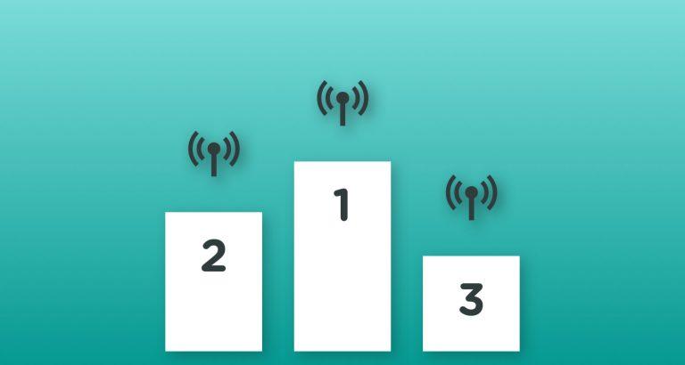 Podie med placeringer for mobilt bredbånd