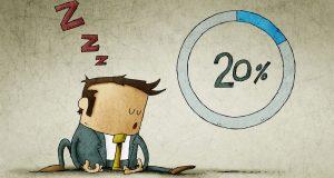Tegneseriefigur sover på grund af langsomt internet