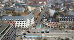 Frederiksberg set oppefra ved hjørnet af Falkoner Allé og Gl. Kongevej