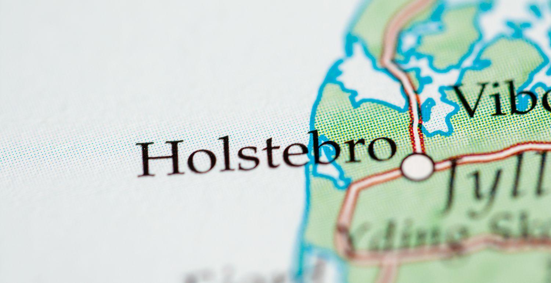 Kort over Holstebro