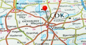Landkort over Viborg