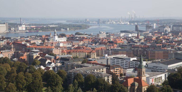 Udsigt over Aalborg by