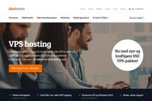 Dandomain VPS screenshot