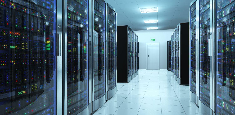 Stort moderne datacenter