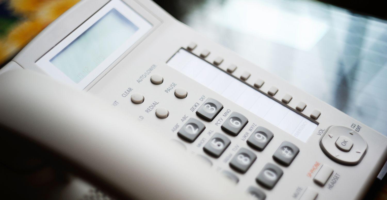 Fastnettelefon med display